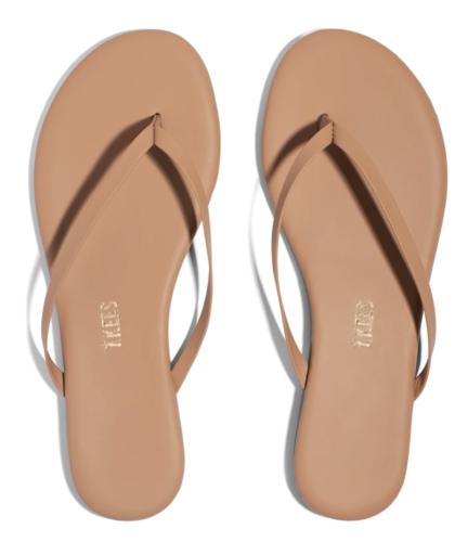 Beach vacation must haves: Tkees nude flip flops