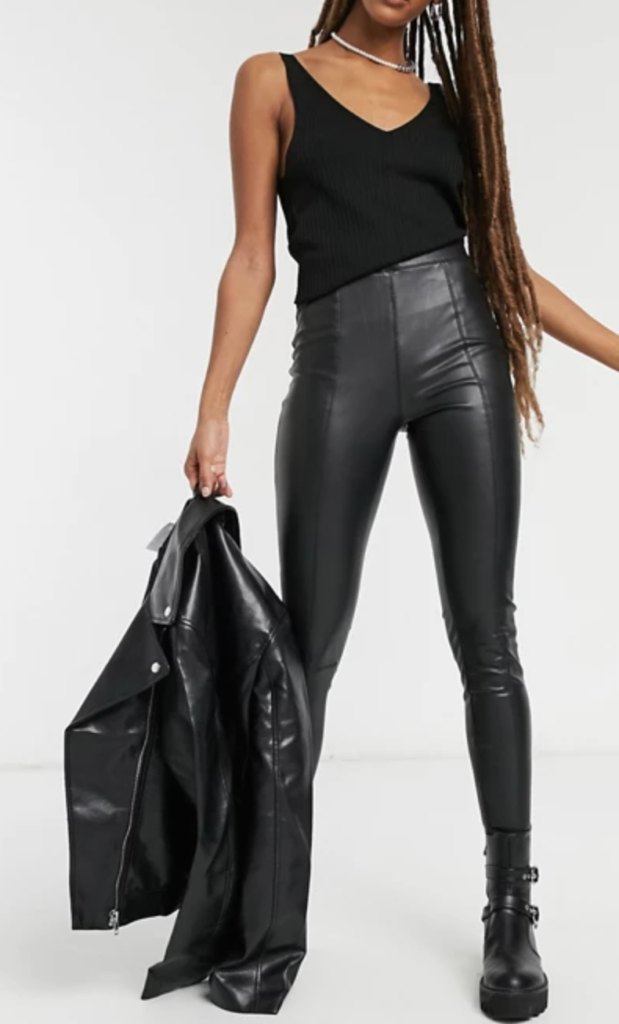 Topshop faux leather leggings - must have for edgy style
