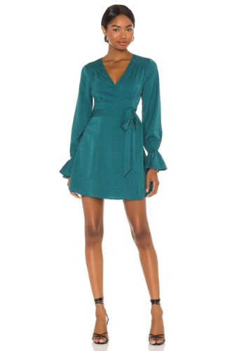 House of Harlow blue wrap dress