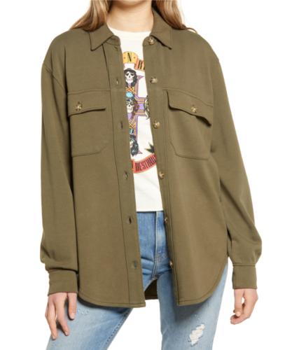 Nordstrom Knit Shirt Jacket