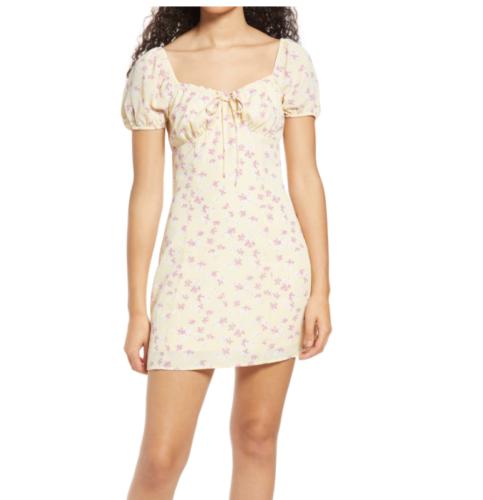 Nordstrom Floral Tie Front Dress