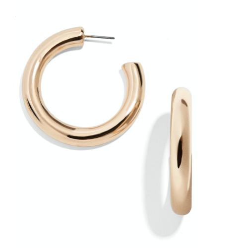 Baublebar Gold Tube Hoop Earrings