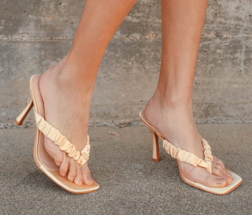 Thong high heel sandals from lulus
