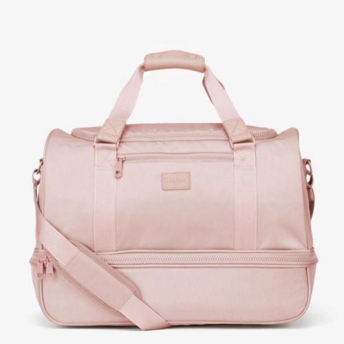 Calpak weekender bag in pink