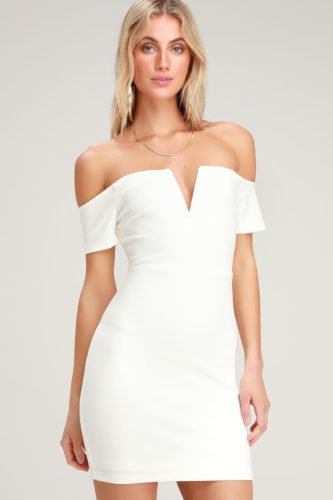 Lulus white off the shoulder dress
