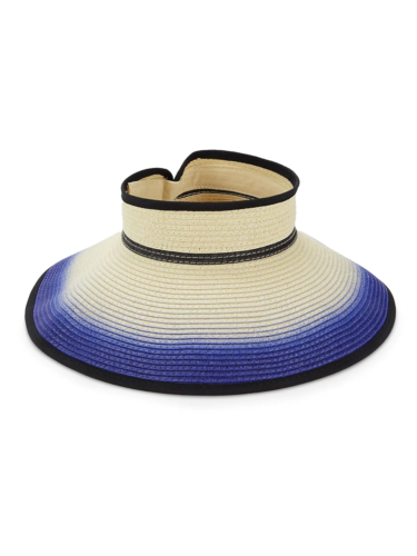 Ombre visor hat from Saks Off Fifth
