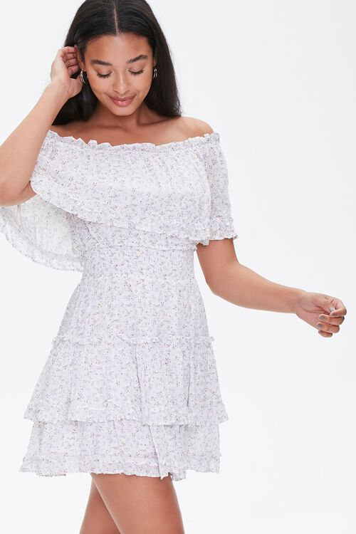 Floral ruffle graduation dress from Forever 21