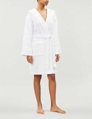 White short spa robe from Selfridges