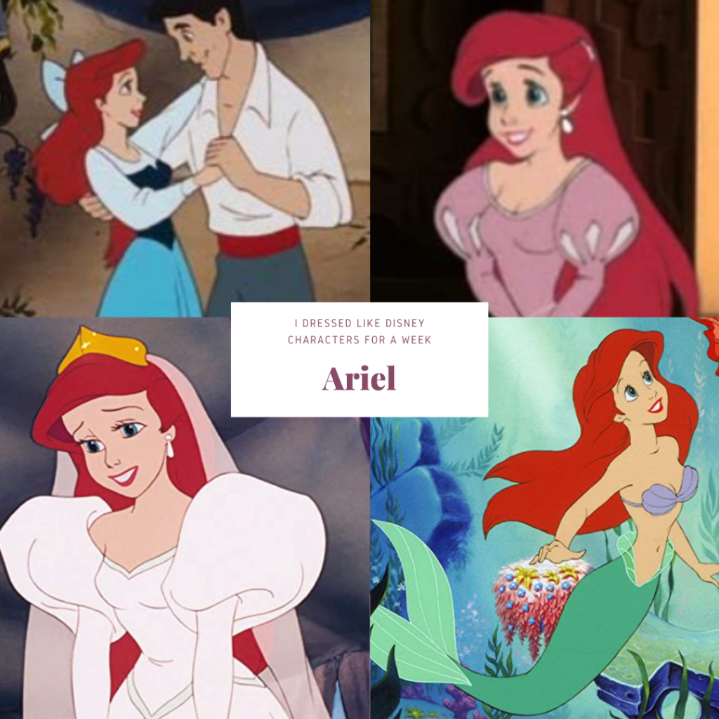 Collage of animated photos of Ariel
