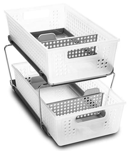 Clear stackable drawer set from Amazon