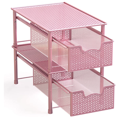 Pink stackable drawer set from Amazon