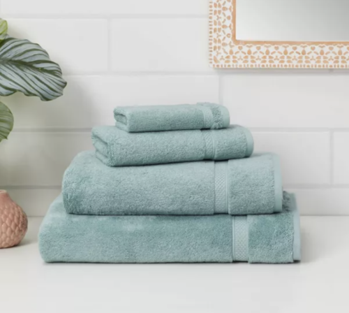 Sky blue towels from Target