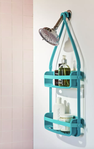 Blue shower caddy from Urban Outfitters