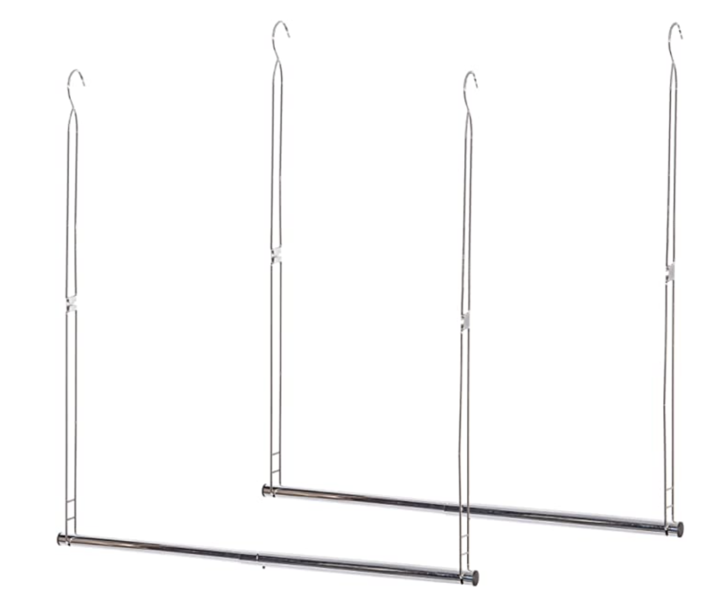 hanging closet rod from Amazon