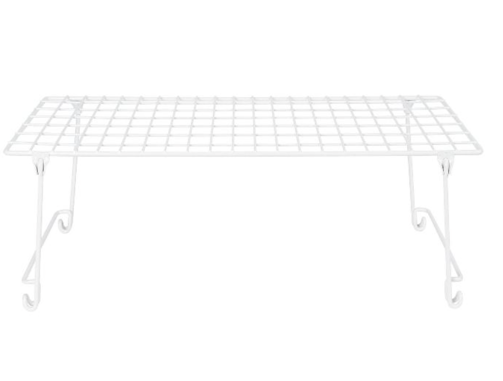 white wire stacking shelves from Target