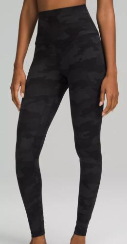 black camouflage leggings from Lululemon