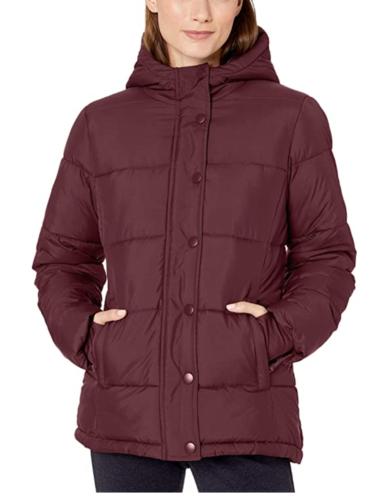 burgundy puffer jacket from Amazon