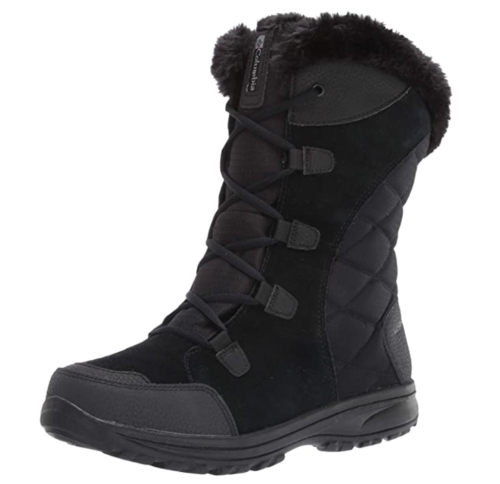 black winter boots from Amazon
