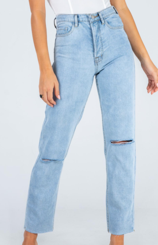 Distressed denim jeans from Princess Polly