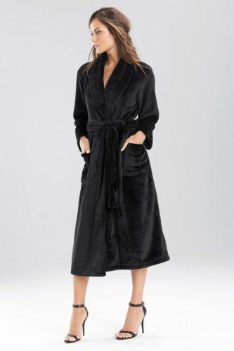 Black spa robe
