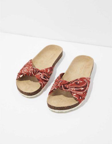 American Eagle Bandana Print Slide Sandals