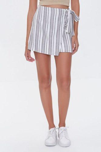 Striped Linen Blend Skirt