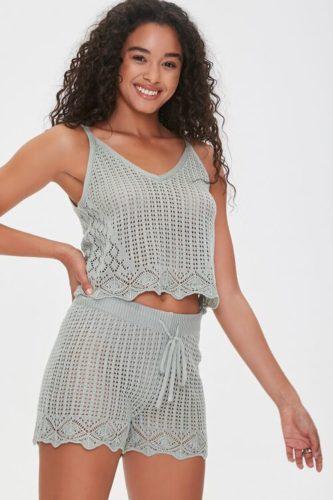 Crochet Cami and Shorts Set