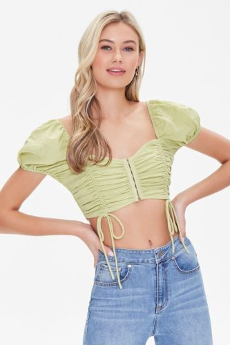 Best Forever 21 finds: Ruched Drawstring Crop Top