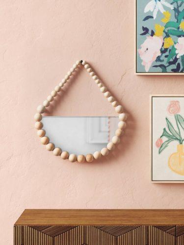 Target Beaded Hanging Mirror