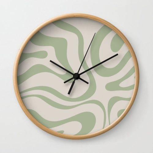 Abstract Print Wall Clock
