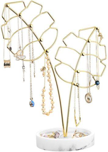 Gold Leaf Jewelry Stand