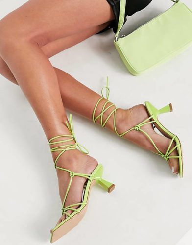 ASOS Anke-tied heeled sandals