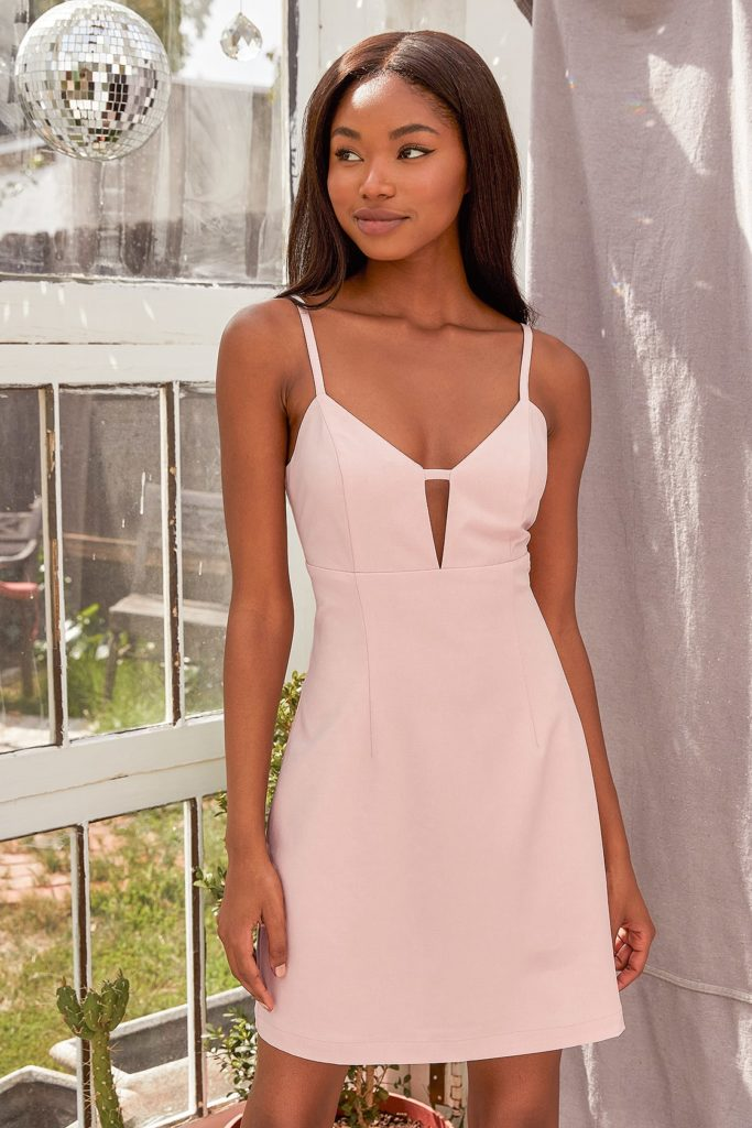 Pink cutout dress from Lulus