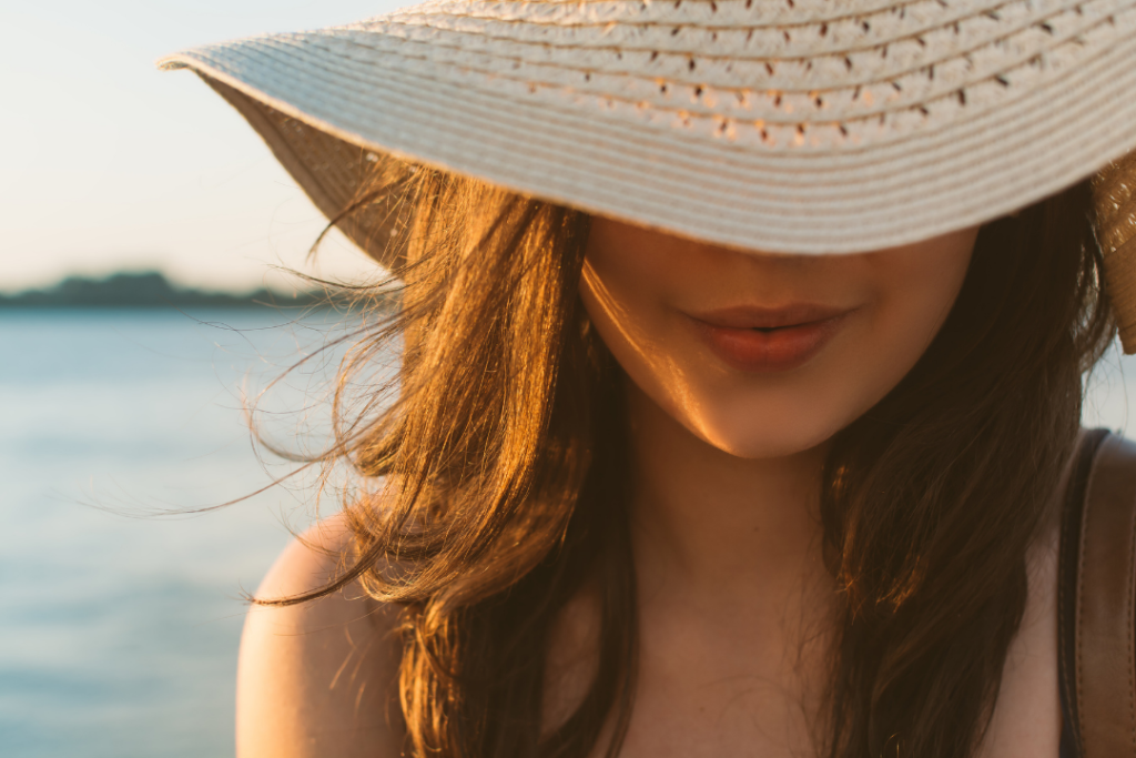 Woman with a spray tan