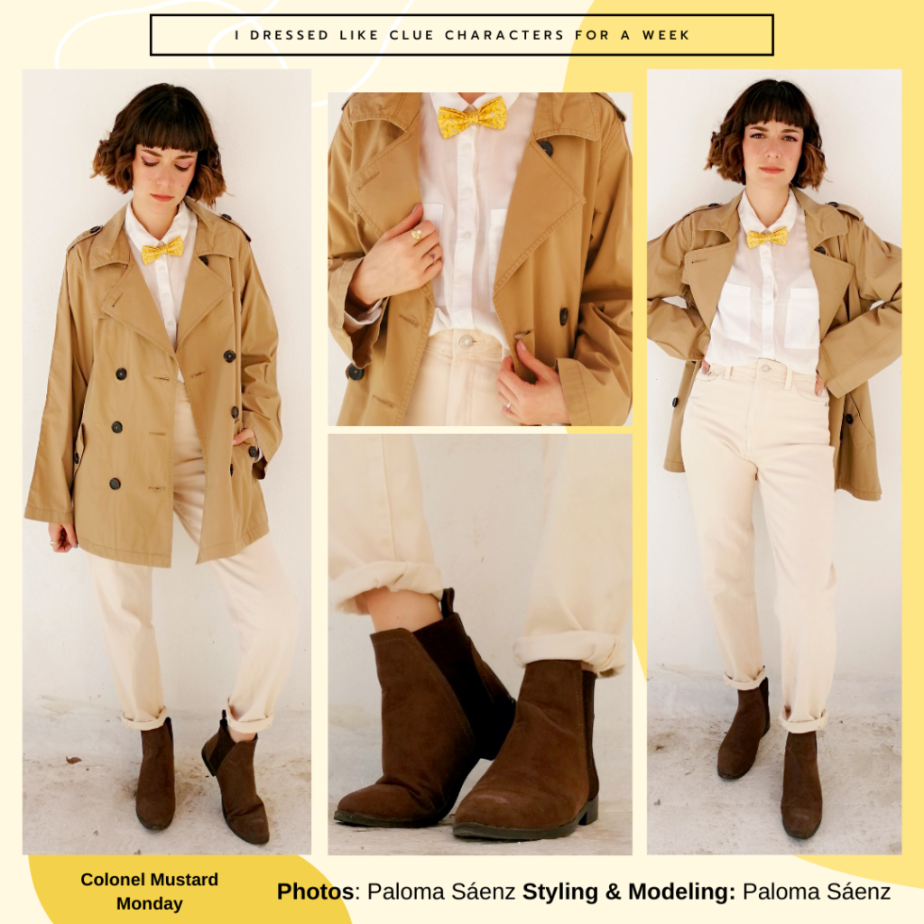 Outfit inspired by Colonel Mustard from Clue