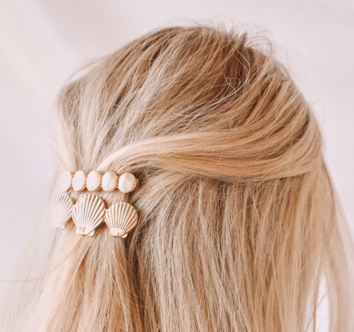 Shell hair clips from Lulus