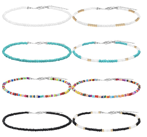 multicolored beaded bracelet pack, Amazon fashion finds