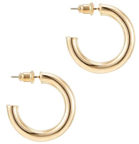 Chunky small gold hoop earrings