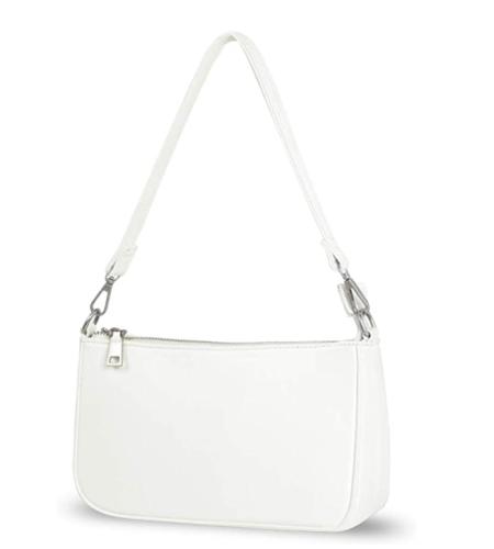 White structured shoulder bag