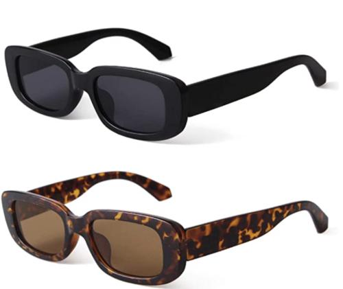 Black and tortiseshell rectangle sunglasses, Amazon fashion finds