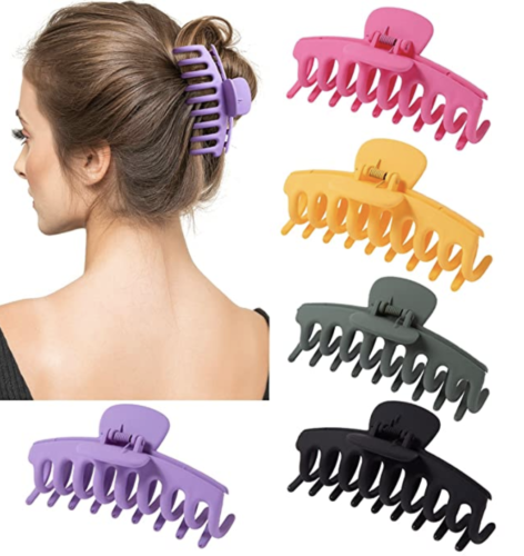 Oversized hair clip, claw set