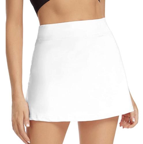 White basic miniskirt