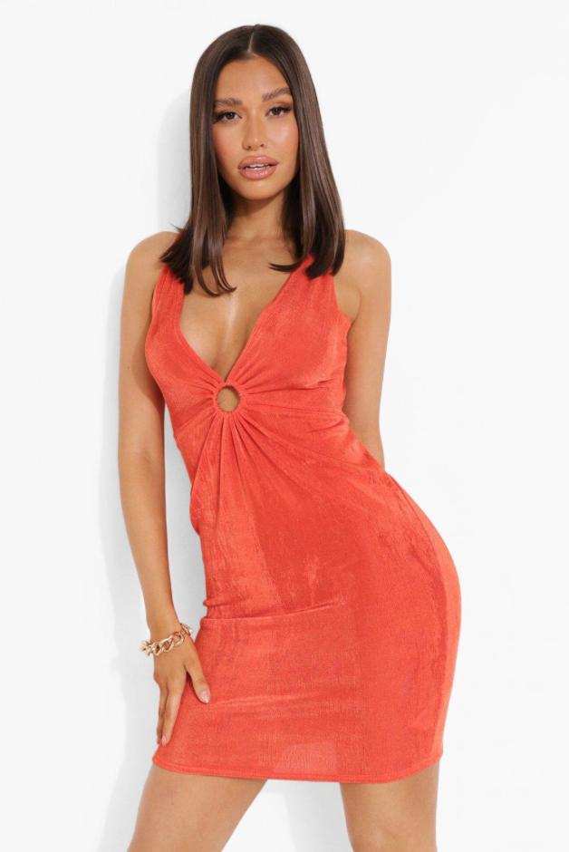 Boohoo cutout dress