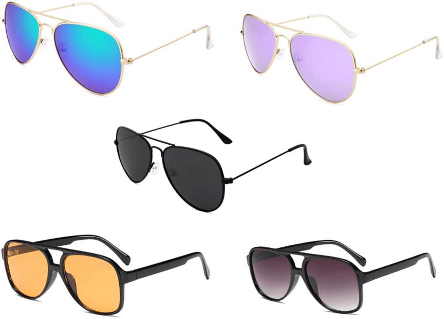 Cheap & trendy sunglasses for women - aviators