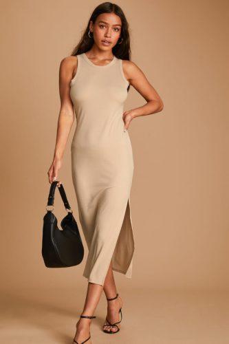 Lulu's Ribbed Midi Dress
