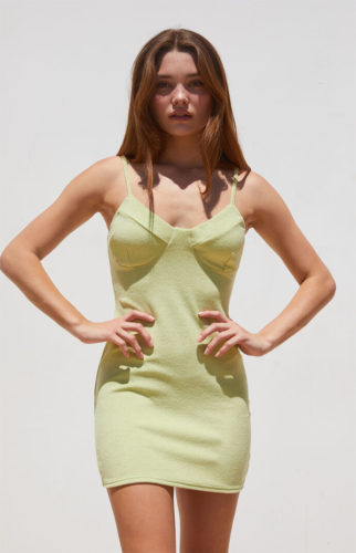 Bustier Terry Cloth Dress