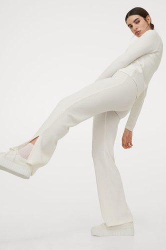 Ribbed Flare Pants