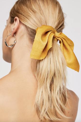 mustard wrap hair tie