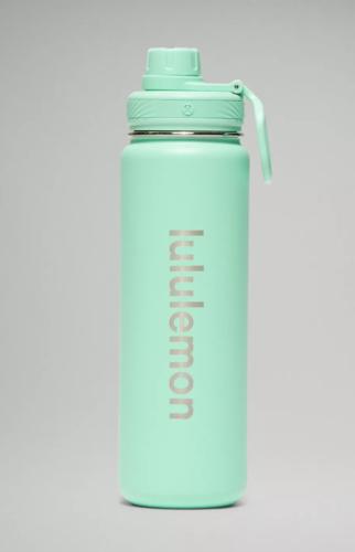 Lululemon mint green water bottle