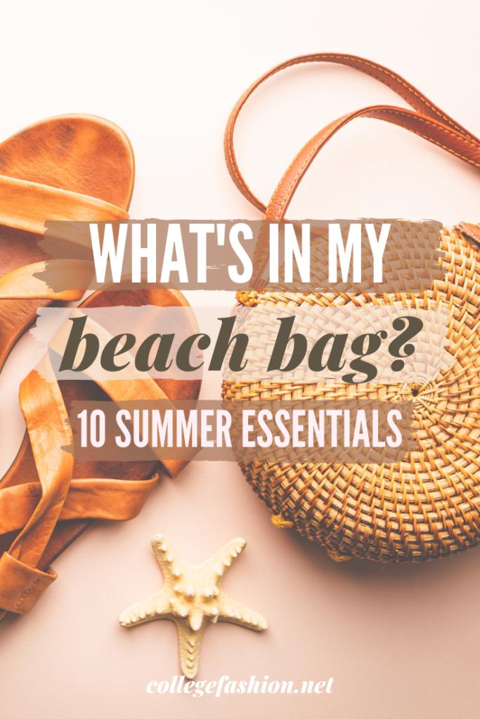 What's In My Beach Bag: 10 Summer Essentials Header Image